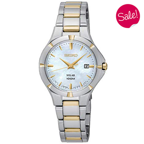 Ladies' Seiko in stainless steel and yellow gold plate SUT294P1