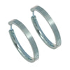 24mm hinged hoop earrings in titanium