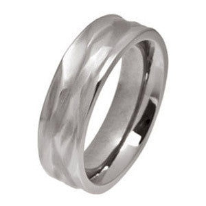 Ring - Wave ring in titanium, 6mm width  - PA Jewellery