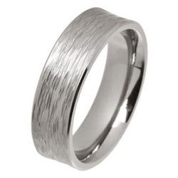 Ring - Rainfall texture concave ring in titanium, 6mm width  - PA Jewellery