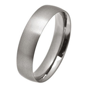 Ring - Low profile ellipse court ring in titanium, 6mm width  - PA Jewellery