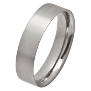 Ring - Low profile ellipse court-flat ring in titanium, 6mm width  - PA Jewellery