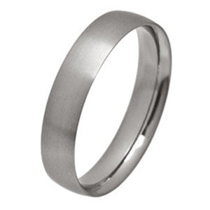 Ring - Low profile ellipse court ring in titanium  - PA Jewellery