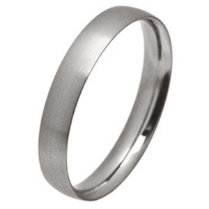 Ring - Low profile ellipse court ring in titanium, 4mm width  - PA Jewellery