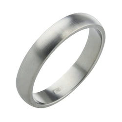 D-shape 4mm band in titanium