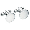 Engravable round cufflinks in silver