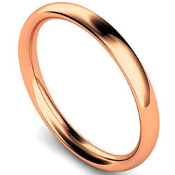 Traditional court profile wedding ring in rose gold, 2.5mm width
