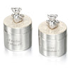 Teddy first tooth and curl boxes, silver plated