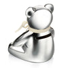 Teddy Bear money box, silver plated