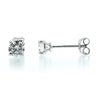 Diamond solitaire earrings and halo jackets in 18ct white gold, 1.40ct