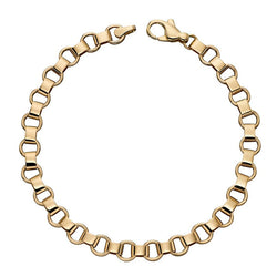 Open circle link bracelet in 9ct gold