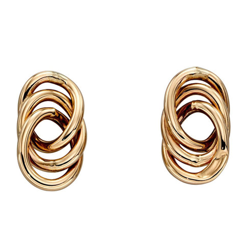 Open oval stud earrings in 9ct gold