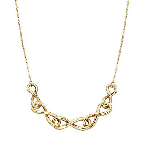 Infinity necklace in 9ct yellow gold