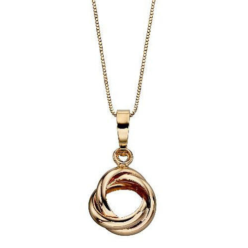 Knot pendant and chain in 9ct yellow gold