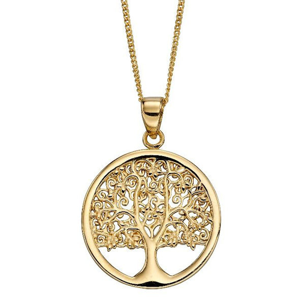 Tree of life pendant and chain in 9ct gold