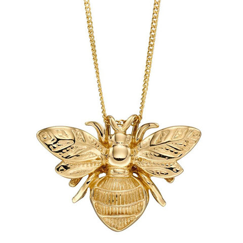Bumblebee pendant and chain in 9ct gold