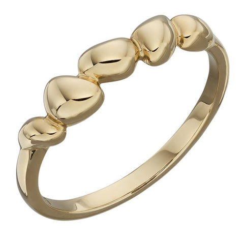 Golden nugget dress ring in 9ct yellow gold