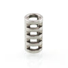 Jacob's Ladder bead in stainless steel