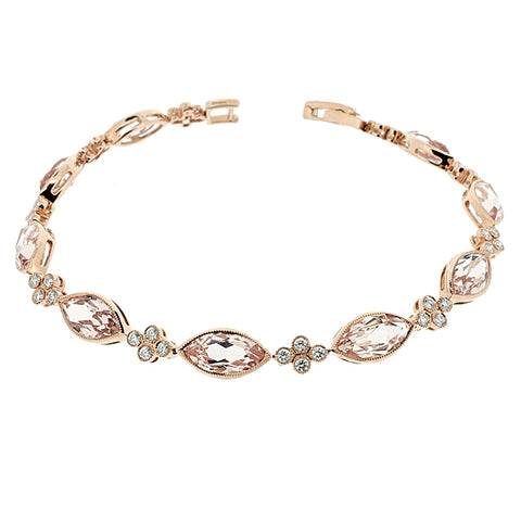Morganite and diamond bracelet in 18ct rose gold