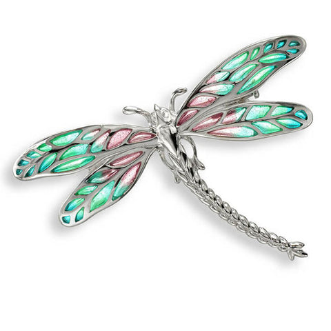 Dragonfly brooch/pendant in silver