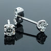 Brilliant cut diamond solitaire earrings in 18ct white gold, 0.49ct