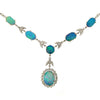 Neckwear - Crystal opal and diamond necklace in 18ct white gold  - PA Jewellery