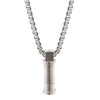 Pendant converter necklace in stainless steel