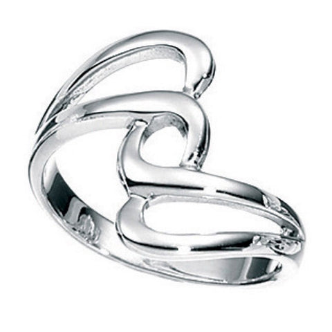 Twist design dress ring in silver