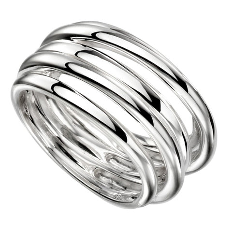 Multi-band dress ring in silver