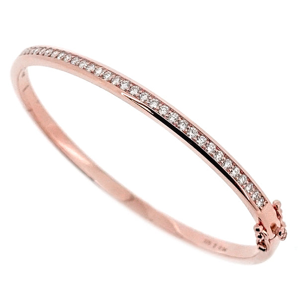 Diamond bangle in 9ct rose gold, 0.94ct