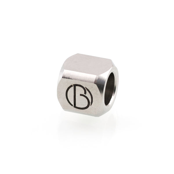 Signature bead in stainless steel