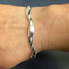 Twist cuff bangle in silver