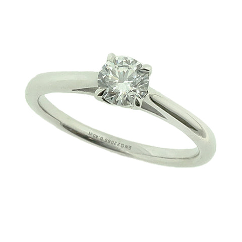 'Proposal ring' - cubic zirconia solitaire ring in silver
