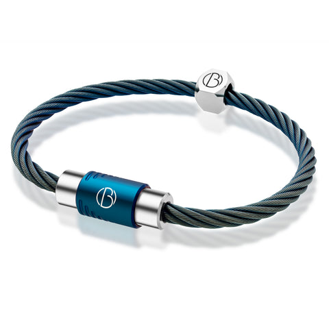 Spectrum CABLE™ bracelet in stainless steel with petrol PVD