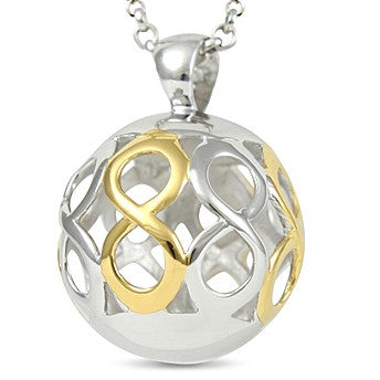 Neckwear - 'Infinity' pendant and chain in silver  - PA Jewellery