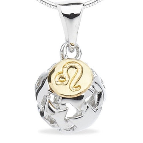 Neckwear - Leo - zodiac pendant and chain in silver  - PA Jewellery