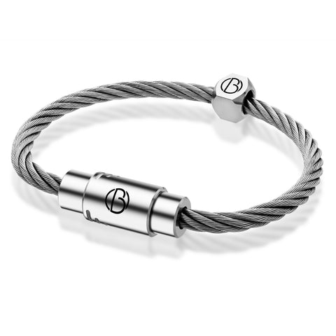 CABLE™ bracelet in stainless steel