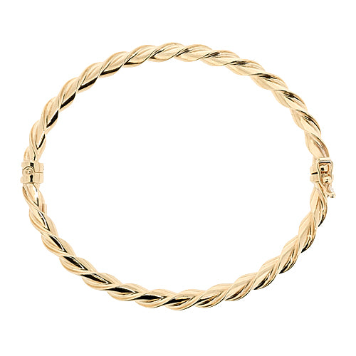 Twist bangle in 9ct yellow gold