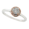 Ring - Round diamond cluster ring in 9ct white and rose gold, 0.13ct  - PA Jewellery
