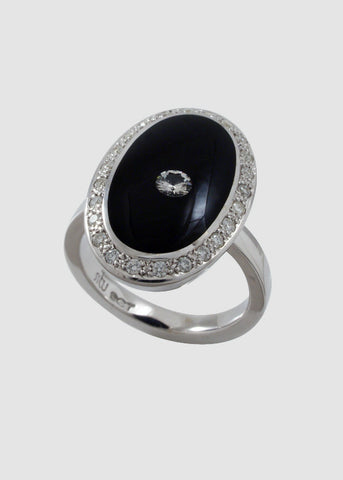 Oval Pave Ring Shank