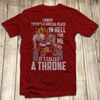 Vegeta Throne T Shirt - Super Saiyan God