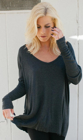 Joah Brown Baggy V-Neck After Party Sweater