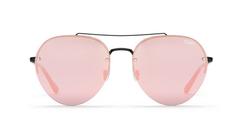 Quay Somerset Aviator Sunglasses Pink