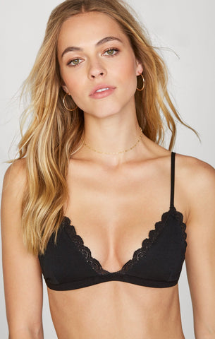 Beach Riot Leah Bra Top Rose Gold