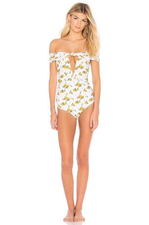For Love and Lemons Limonada One Piece Swim Suit