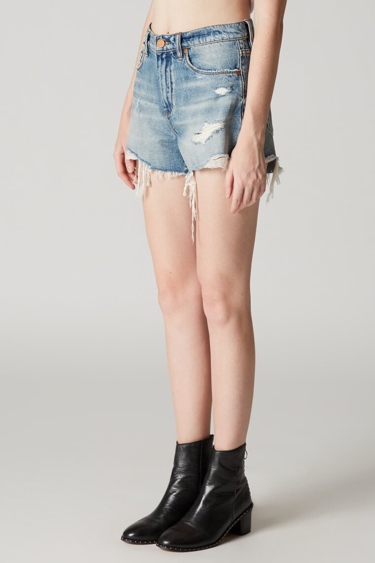 Blank NYC Panic Prevention High Rise Jean Shorts
