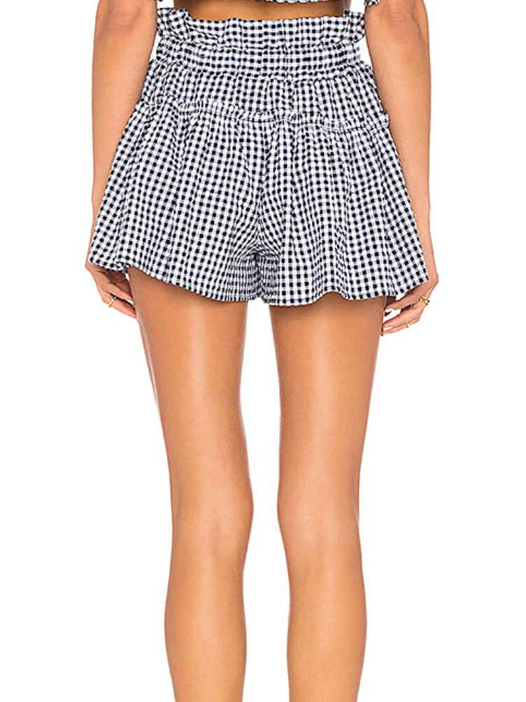 Blue Life Cherie Short Navy Gingham