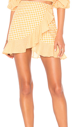 Lovers + Friends Stacey Gingham Top