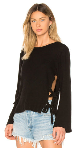 LNA Detached Turtleneck Sleeveless Top Black