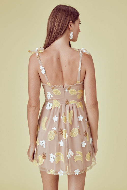 For Love and Lemons Fruitpunch Sequin Mini Dress